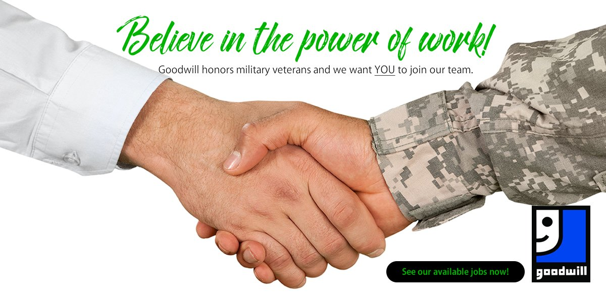 Goodwill supports military veterans!